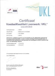 VKL Certificaat 2015