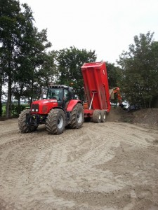Zand transport